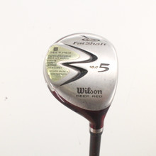 Wilson Deep Red 5 Wood 18 Degrees FatShaft Grafalloy Regular Flex 85840G