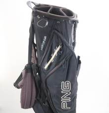 PING Hoofer Carry Stand Golf Bag 5-Way / 10 Pockets Black/Gray 86953G