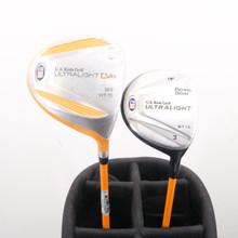 """U.S. Kids Golf UL / DV1 Wood Set Driver, 3W Graphite For 63"""" Tall Junior 86968G"""