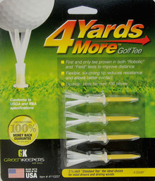 "4 Yards More Golf Tee - 4 Pack - 2 3/4"" Standard Height - Yellow GT-11923"