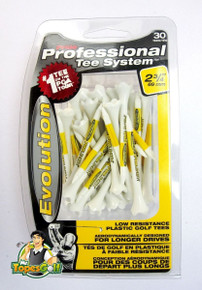 "Pride Evolution Golf Tees - 30 Pack - 2 3/4"" Standard Height - White/Yellow GT-11978"