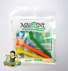 "Martini Tees - 5 Pack - 3 1/4"" Assorted Colors - Longer & Straighter Drives GT-11985"