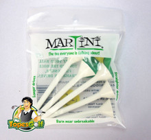 "Martini Tees - 5 Pack - 3 1/4"" Color White - Longer & Straighter Drives GT-11995"