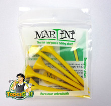 "Martini Tees - 5 Pack - 3 1/4"" Color Yellow - Longer & Straighter Drives GT-11996"
