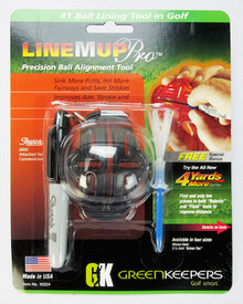GreenKeepers Line M Up Pro Golf Ball Alignment Lining Tool FREE Tee Offer GT-23088