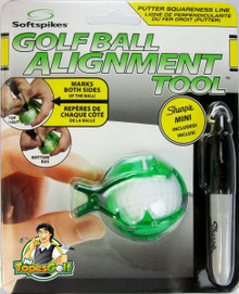 Softspikes Golf Ball Alignment Lining Tool includes mini Sharpie GT-23226