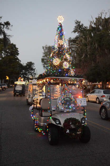 christmas tree golf cart