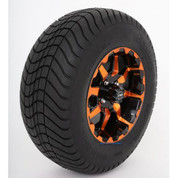 "12"" STI HD6 RADIANT ORANGE/Black Wheels and 23"" Slasher GFX DOT Street Tires - Set of 4"