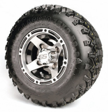 "8'' RANGER Wheels and 18x9.5-8"" All Terrain Tires - Set of 4"