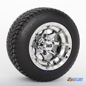 """10"""" STI HD6 Chrome Wheels and 205/50-10 Low Profile DOT Tires Combo"""
