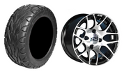 "14"" GTW Pursuit Machined/Black Wheels and 23"" All Terrain Tires Combo"