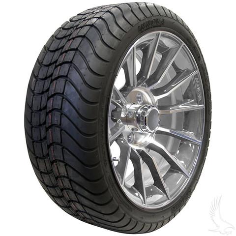 "15"" RHOX AC603 CHROME Wheels and Innova Driver 205/35R-15"" DOT Tires Combo"