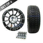 "15"" RHOX AC558 Machined/ Black Wheels and Innova Driver 205/35R-15"" DOT Tires Combo"