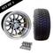 "12"" PHOENIX Wheels and 215/35-12"" DOT Tires Combo - Set of 4 - BLACK"