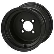 "10"" BLACK Steel Golf Cart Wheels - Set of 4"