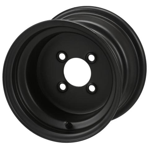 """10"""" BLACK Steel Golf Cart Wheels - Set of 4"""