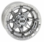 "10"" STI HD6 MIRRORED Aluminum Golf Cart Wheels - Set of 4"