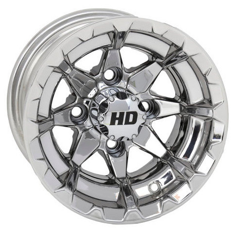 "10"" STI HD6 MIRRORED Aluminum Golf Cart Wheels - Set of 4"