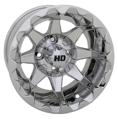 "12"" STI HD6 MIRRORED Aluminum Golf Cart Wheels - Set of 4"