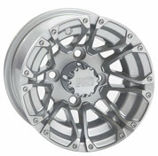 "10"" STI HD3 Machined Silver Aluminum Golf Cart Wheels - Set of 4"