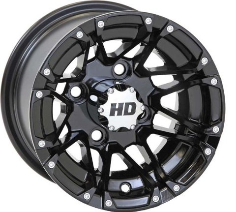 "Black STI HD3 10"" Wheels and GTX Slasher DOT Tires Combo"