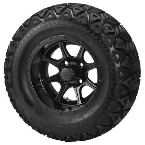 "12"" TREMOR Matte Black Wheels and 23x10-12"" DOT All Terrain Tires Combo"