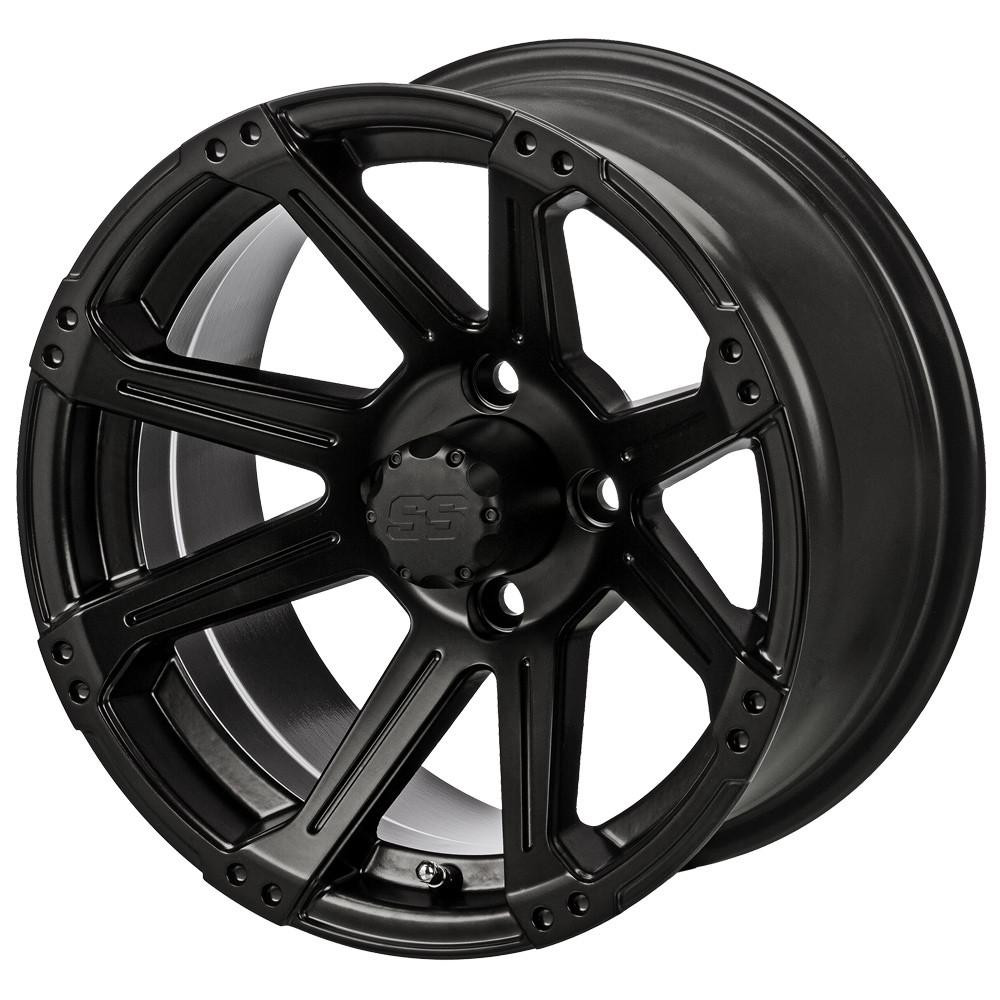14 Quot Rampage Matte Black Golf Cart Wheels Set Of 4 Golf
