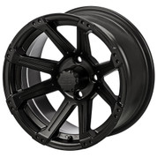"14"" RAMPAGE Matte Black Aluminum Golf Cart Wheels - Set of 4"