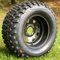 "12"" BLACK Steel Window Wheels and 23x10.5-12"" All Terrain Tires Combo"