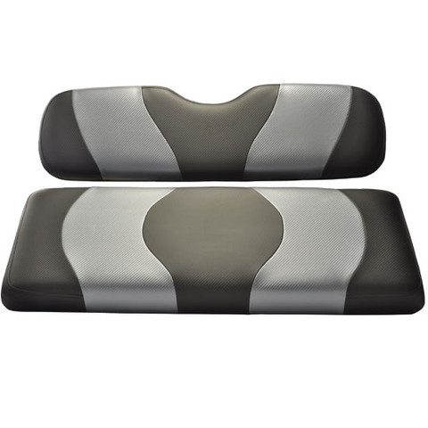 MADJAX Wave Two Tone Front Seat Covers in Black/Dark Gray - Fits all Carts!