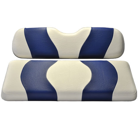 MADJAX Wave Two Tone Front Seat Covers in White/Blue - Fits all Carts!