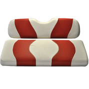 MADJAX Wave Two Tone Front Seat Covers in White/Red - Fits all Carts!