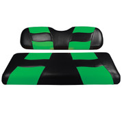 MADJAX Riptide Two Tone Front Seat Covers in Black/Green -  Fits all Carts!