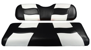 MADJAX Riptide Two Tone Front Seat Covers in Black/White -  Fits all Carts!