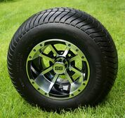 """10"""" STORM TROOPER Machined/ Black Wheels and 205/65-10 ComfortRide DOT Tires - Set of 4"""