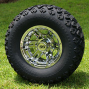 "10"" BULLDOG CHROME Wheels and 20x10-10 DOT All Terrain Tires - Set of 4"