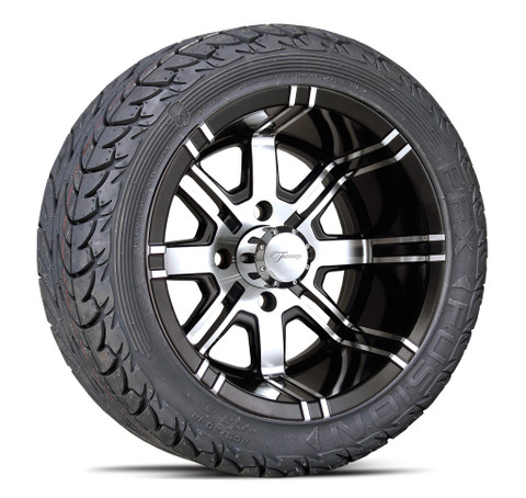 """Fairway Alloys Aggressor 12"""" Wheels and 205/30-12 EFX Low Profile Tires"""