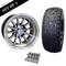 "12"" PHOENIX Wheels and 22x9.5-12"" DOT RHOX Street Tires Combo - Set of 4"