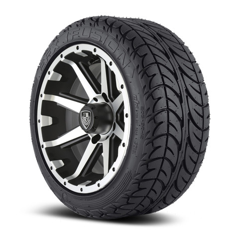 "Fairway Alloys Rebel 12"" wheel and EFX Fusion Street 205/30-12"" tire combo"
