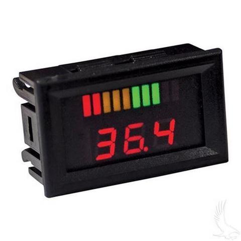 36V Horizontal Digital Voltage Display Charge Meter