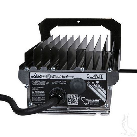 EZGO 48 Volt Golf Cart Battery Charger (SB50 Plug) - Lester Summit Series High Frequency 48V/13A