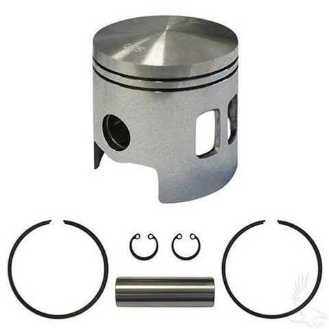 EZGO Piston and Piston Ring Assembly in .25mm Oversized Size (Fits EZ-GO 2-cycle Gas 1989-1993)