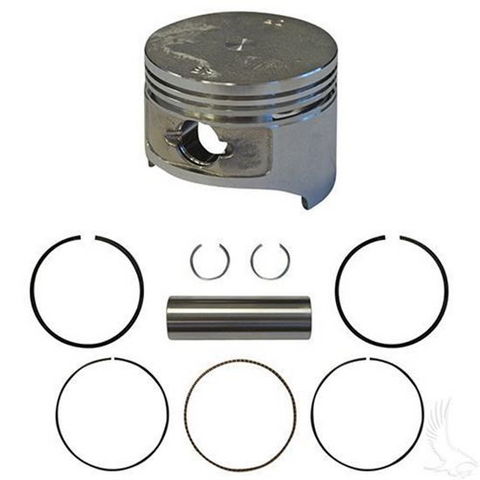 EZGO Piston and Piston Ring Assembly in .25mm Oversized Size (Fits EZ-GO 4-cycle Gas 1991+ 295cc Only)