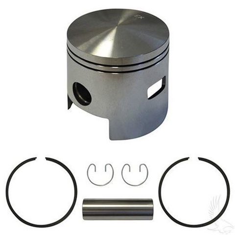 EZGO Piston and Piston Ring Assembly in .25mm Oversized Size (Fits EZ-GO 2-cycle Gas 1980-1988)