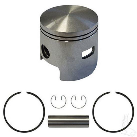 EZGO Piston and Piston Ring Assembly in .50mm Oversized Size (Fits EZ-GO 2-cycle Gas 1980-1988)