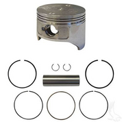 EZGO Piston and Piston Ring Set in .25mm Oversized Size (Fits EZ-GO 4-cycle Gas 1992+ 350cc)