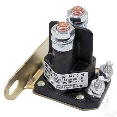 EZGO TXT/ Medalist 14V 4-Terminal Silver Solenoid (Fits EZ-GO 4-cycle Gas 1994+)