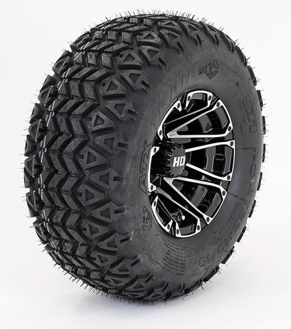 "Excel HD3 10"" Wheel and Sahara Classic Tires Combo"