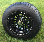 "Black STI HD3 10"" Wheels and GTX Slasher DOT Tires Combo"