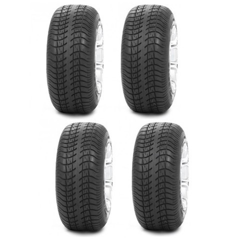 "STI GTX Pro Rider 205/50-10"" DOT Approved Street & Turf Golf Cart Tires - Set of 4"
